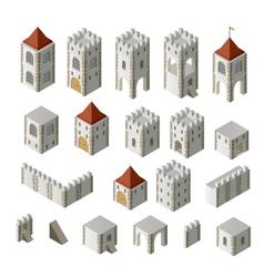 Medieval buildings vector