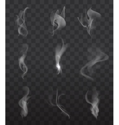 Smoke signs set vector image