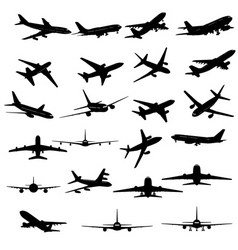 planes silhouette vector image