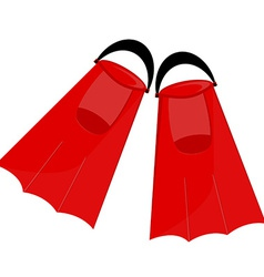Red flippers vector image vector image