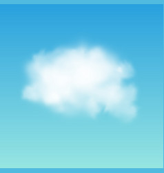transparent white cloud on the sky realistic vector image vector image