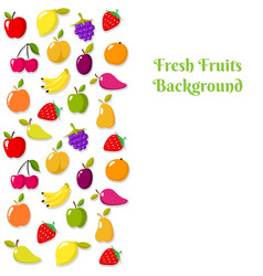 fruit banner or flyer template vector image vector image