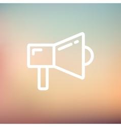 Megaphone thin line icon vector image