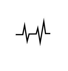 pulse icon vector image vector image