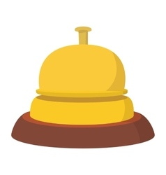 Reception bell cartoon icon vector image