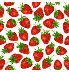 watercolor strawberry on white background vector image vector image