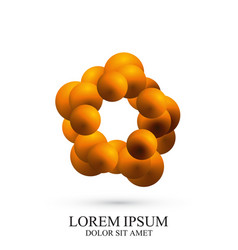 3d logotype icon dna molecule template vector image