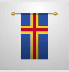 Aland hanging flag vector