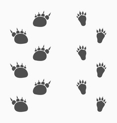 animals footprints isolated on light background vector image