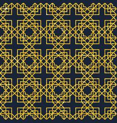 arabic seamless geometric pattern on gold texture vector image