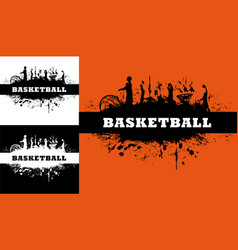 Basketball or streetball game grunge background vector