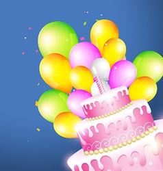 Beautiful of birthday card vector image