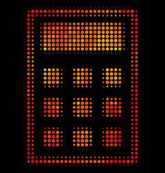 Bright dot calculator icon vector