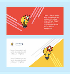 bulb setting abstract corporate business banner vector image