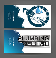 Business card concept plumbing repair vector