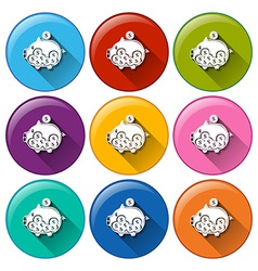 Buttons with piggy banks vector image