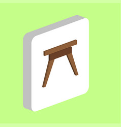 camping table computer symbol vector image
