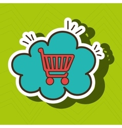Car shop buy online cloud vector