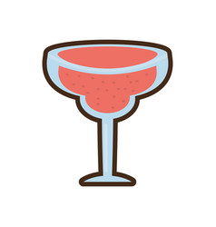 cartoon glass cup cocktail drink vector image