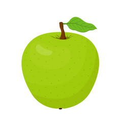 cartoon green apple vegetarian fruit vector image