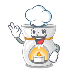 Chef therapy aroma lamp and candle character vector