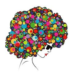 Colorful hair vector