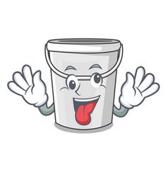 crazy plastic tube bucket in mascot vector image