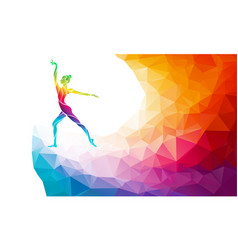 Creative silhouette gymnastic girl vector