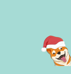 Cute shiba inu dog with copy space vector