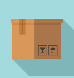 delivery box icon flat style vector image
