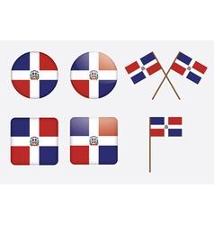 Dominican Republic Flag Badges vector image