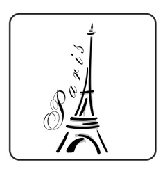 Eiffel Tower in a simple sketch style vector