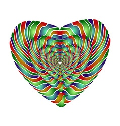 Enamel heart Perspective vector