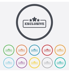 Exclusive sign icon Special offer symbol vector image