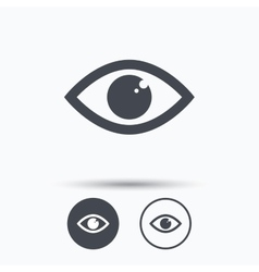 Eye icon Eyeball vision sign vector