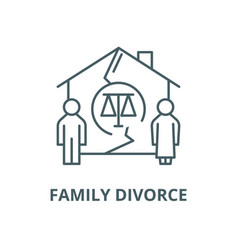 Family divorce line icon linear concept vector