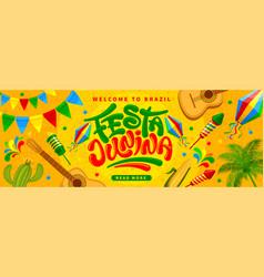 festa junina banner template vector image