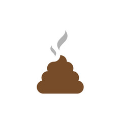 flat icon shit bunch of shit with smoke brown shit vector image