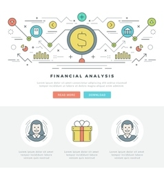Flat line Business Analysis Concept vector image