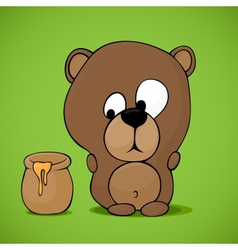 Funny cartoon bear vector image