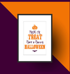 Halloween design in picture frame vector