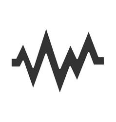 Heart beat glyph icon silhouette symbol sound vector