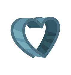 heart shaped pastry cutter vector image