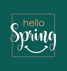 Hello spring template design vector