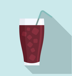 ice soda cocktail icon flat style vector image