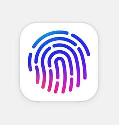 Id app icon template fingerprint mobile vector