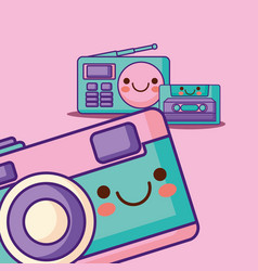 kawaii technology devices vector image