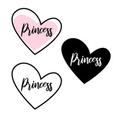 Little princess lettering for girl t-shirt design vector