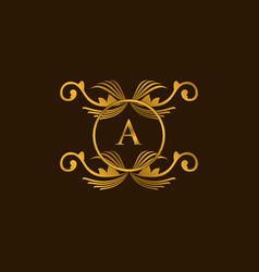 Luxury a logo vector