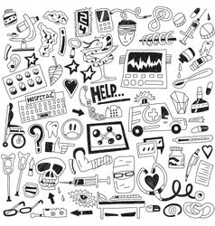Medicine doodles vector image